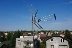 Maszt antenowy po redukcji ilości anten DVB-T