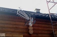 Antena DVB-T na domku letniskowym