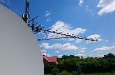 Podczas prac konserwacyjnych DVB-T i SAT na dachu budynku