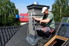 Podczas ustawianie anteny logarytmicznej DVB-T