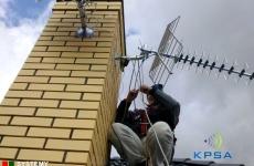 Podczas montażu DVB-T na dachu - Lublin
