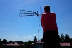 Ustawienie anteny DVB-T na maszcie