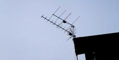 Zestaw anten naziemnych zamontowany na maszcie - Nałęczów