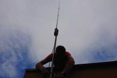 Mocowanie do cybantów masztu anteny krótkofalarskiej