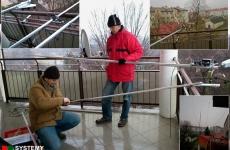 Podczas montażu anteny krótkofalarskiej