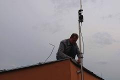 Odgromienie anteny krótkofalarskiej - Lublin