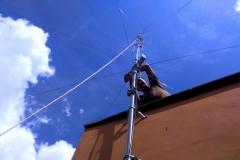 Podczas montażu anteny krótkofalarskiej GP-7 DX cz.3