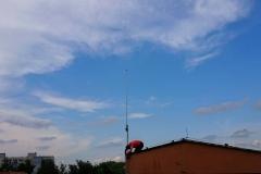 Podczas montażu anteny krótkofalarskiej - Lublin