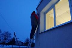 Podczas montażu zewnętrznej anteny LTE na ścianie