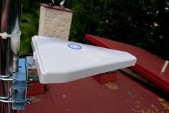Antena ATK-LOG ALP LTE zamontowana na maszcie