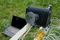 Widok promiennika przy antenie SkyDSL