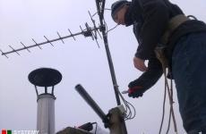 Wymiana skorodowanych anten na maszcie - Lublin